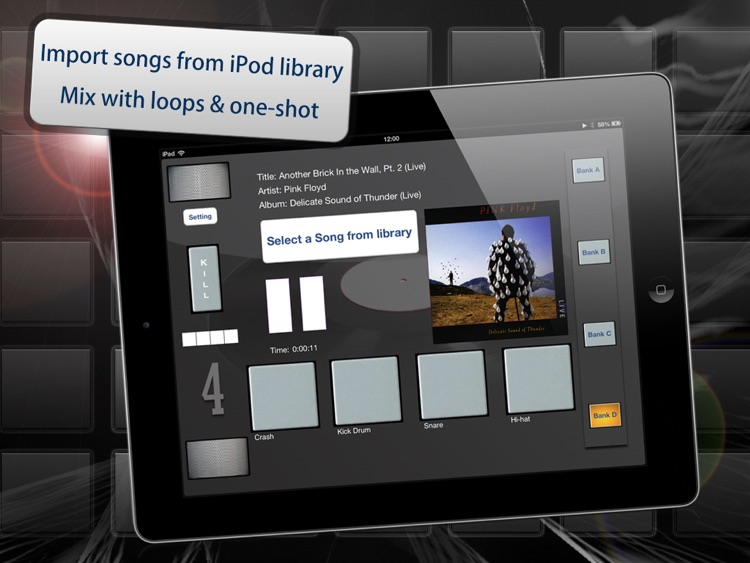 myDjPad - looper and audio effects for dj mixing and looping in dance music style screenshot-3