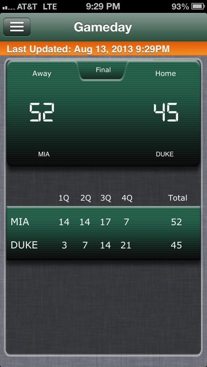 Miami Canes Football Live screenshot-4