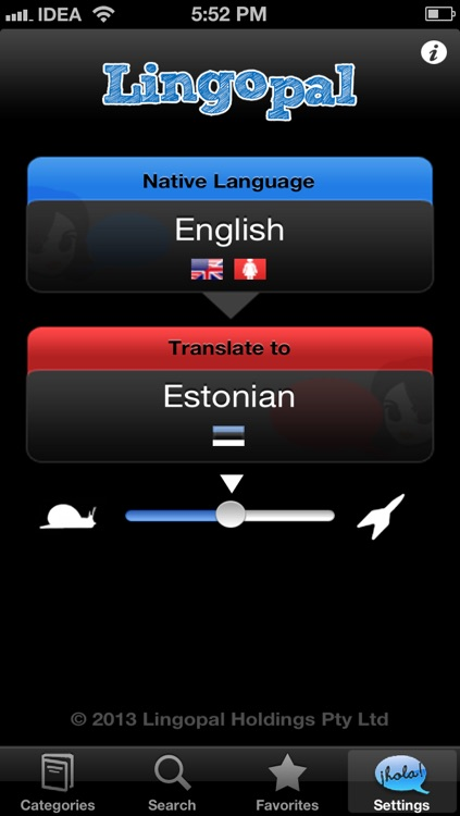 Lingopal Estonian LITE - talking phrasebook