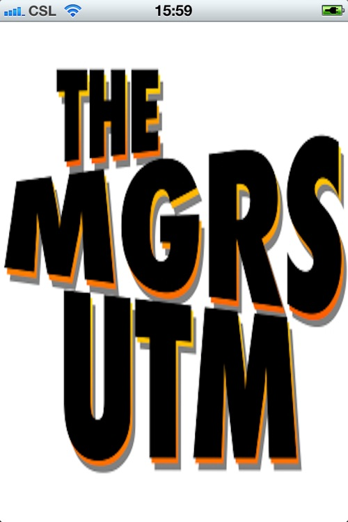The MGRS UTM Convertor for iPhone screenshot-0