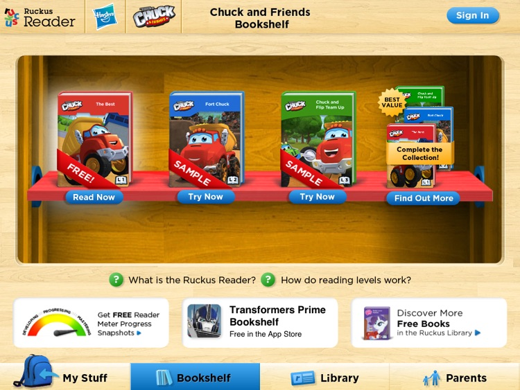 Chuck & Friends: Ruckus Reader screenshot-4