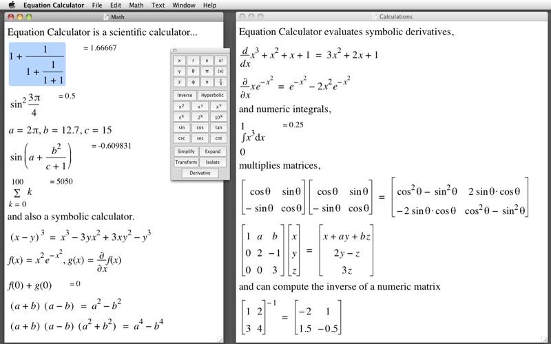 Equation Calculator Macgenius