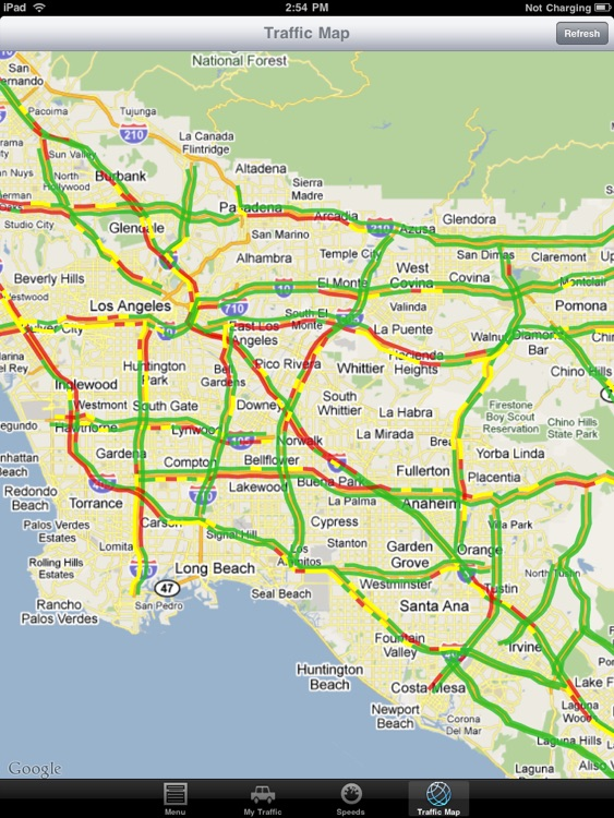 California Traffic Report for iPad
