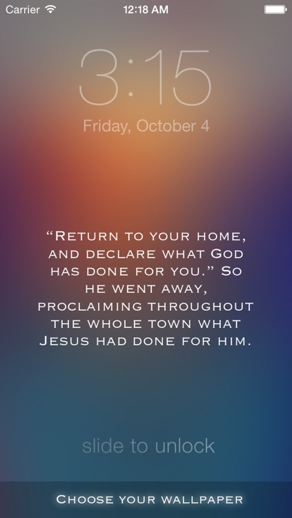 WallBible - Customize your wallpaper with the Verse of the Day