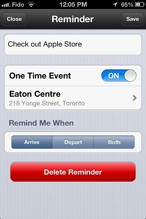 Geo-Reminders Lite ~ A Location-based Reminders App screenshot-3