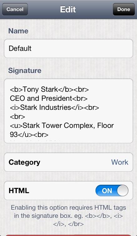 Quick Signature - Multiple Email Signatures