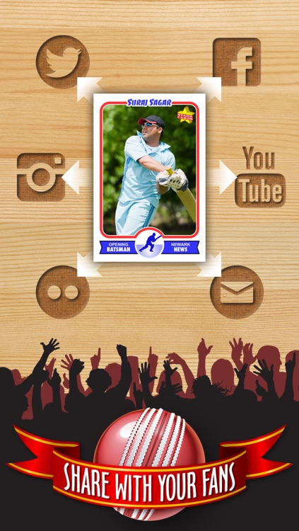 Cricket Card Maker - Make Your Own Custom Cricket Cards with Starr Cards screenshot-3