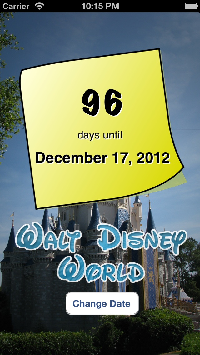 Disney World Countdown review screenshots