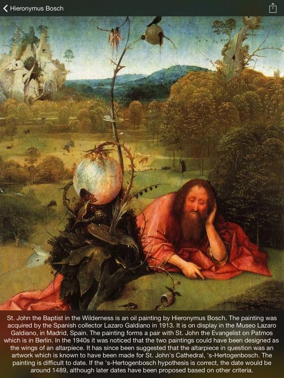 Painting Gallery HD for iPad - Leonardo da Vinci , Edgar Degas , Hieronymus Bosch , Sandro Botticelli screenshot-4