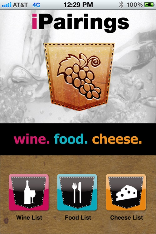 iPairings: Wine, Food and Cheese Pairings screenshot-0