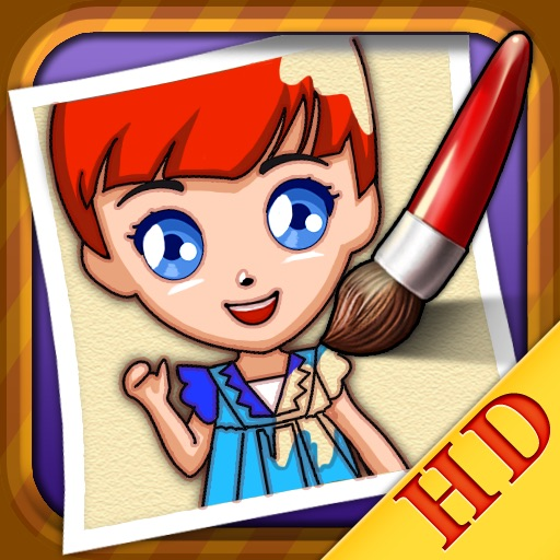 Coloring Book - Princess HD icon