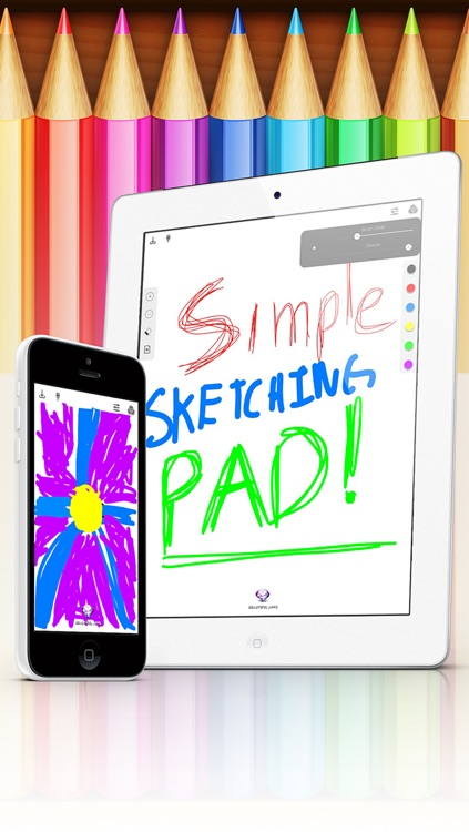 Simple Sketching Pad - Make a quick pencil/paint sketch on a clean drawing drafting canvas