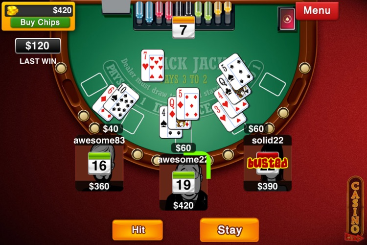 Blackjack Live : Casino All-In