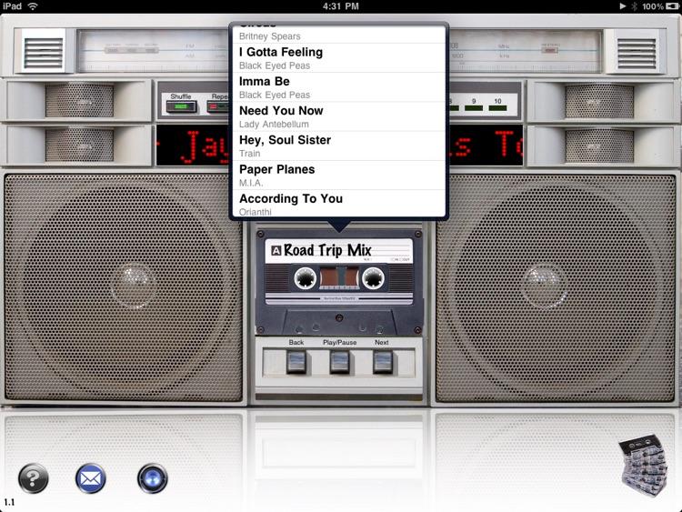 Boombox for iPad