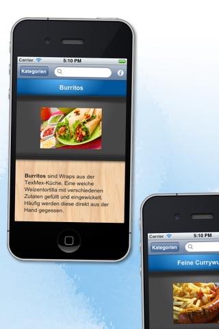 Fastfood HD - 100 Rezepte für Burger & Co screenshot 3