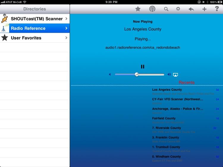 Scanner Radio - iPad Edition
