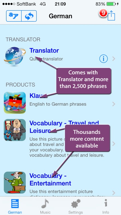 German - Talking English to German Translator and Phrasebook screenshot-0
