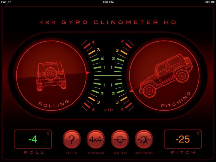 4x4 Gyroscope Clinometer HD screenshot-4
