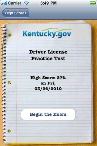 kentucky drivers road test requirements