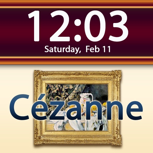 Clockscapes Paul Cézanne - Animated Clock Display