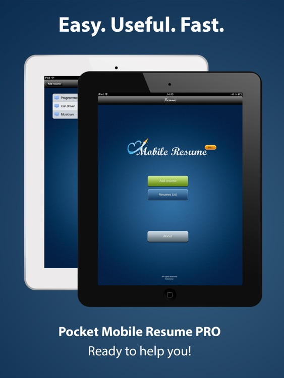 Pocket Mobile Resume PRO screenshot-4