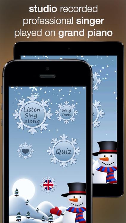 Christmas Music - studio recorded songs to sing along and karaoke screenshot-0