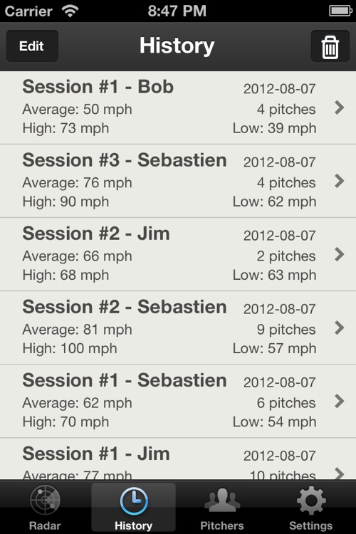 Baseball Pitch Radar Gun screenshot-1