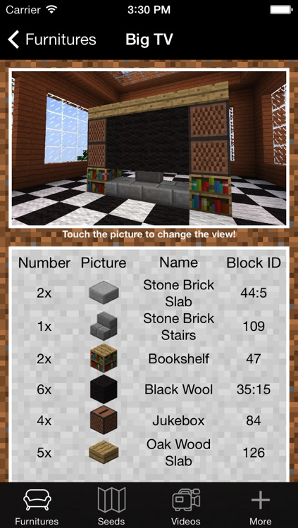 Furniture and Seed Guide for Minecraft screenshot-0