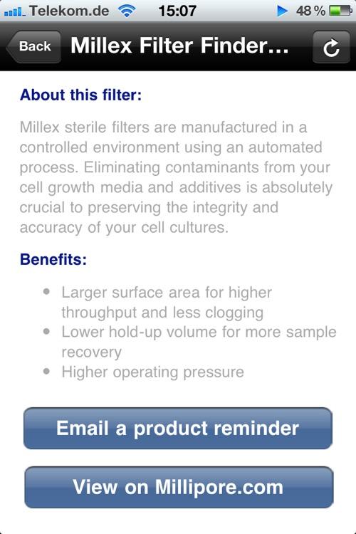 Millex Filter Finder screenshot-4
