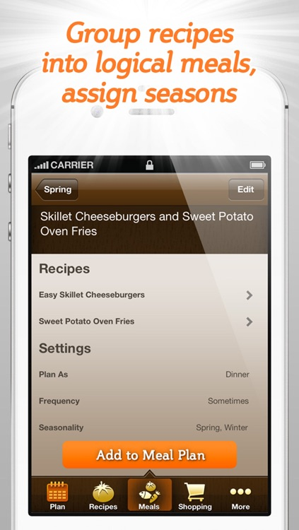 Spinning Meals Smart Meal Planner screenshot-3