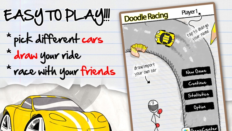 A Doodle Racing Free Top Best Car Race Chase Game by Jesse Miller