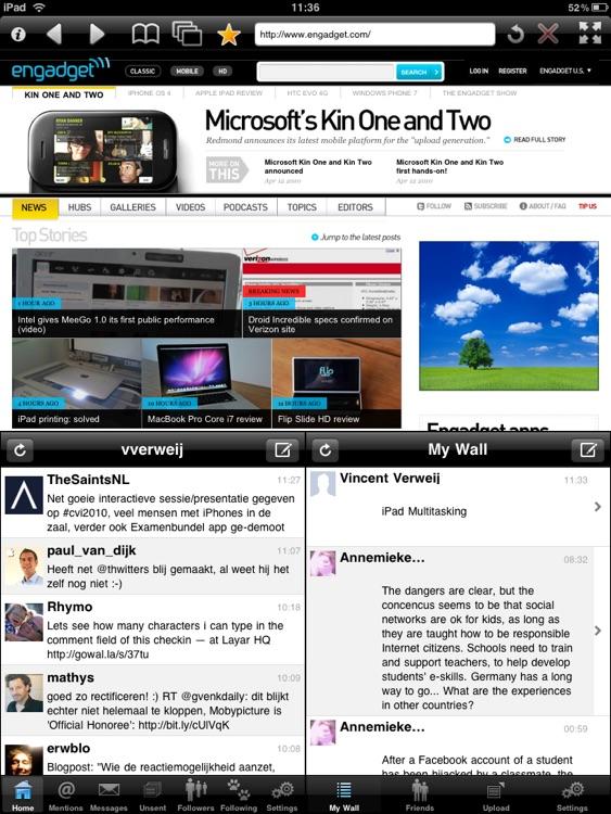 Multitasking for iPad