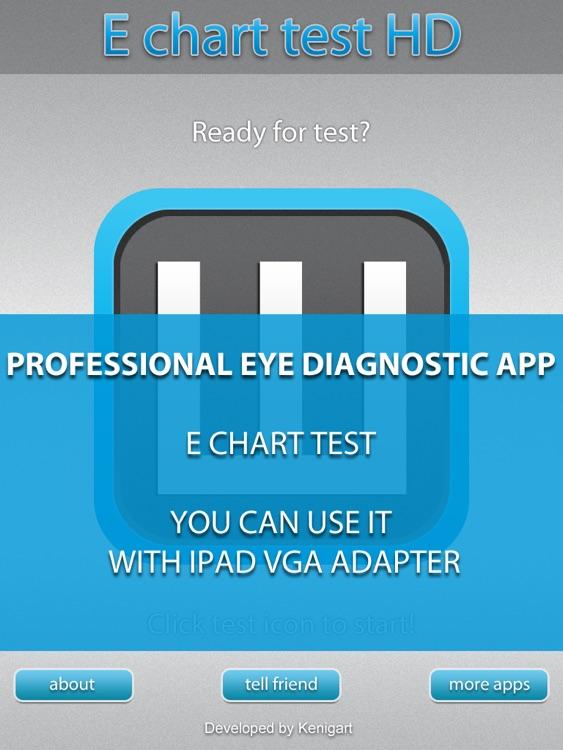 E Chart test HD - Medical eye Diagnostic chart and test