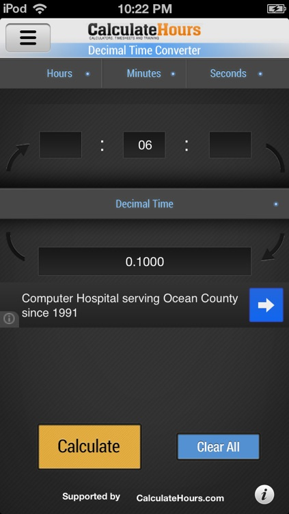 Military Time Converter + Decimal Time Converter screenshot-2