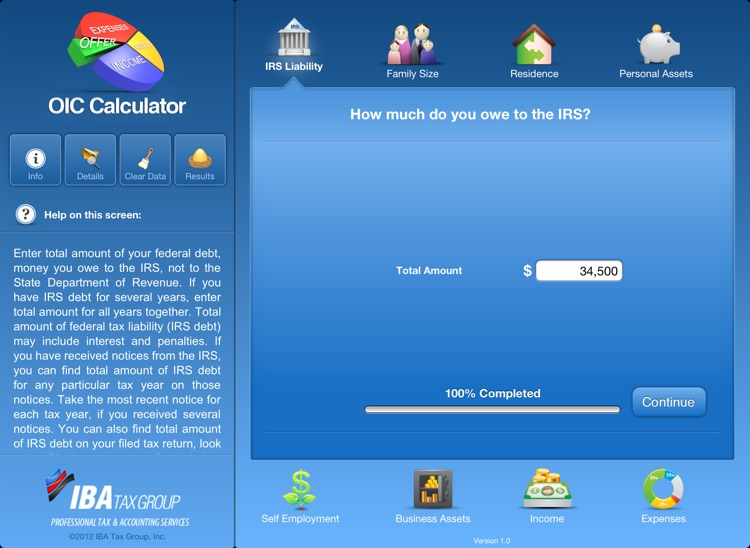 OIC Calculator for iPad