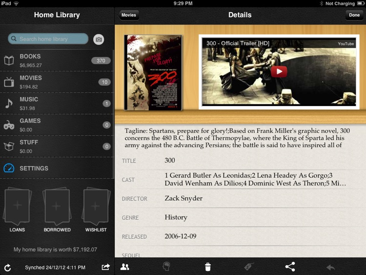 Home Library for iPad