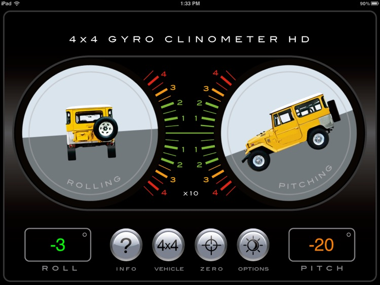 4x4 Gyroscope Clinometer HD screenshot-3
