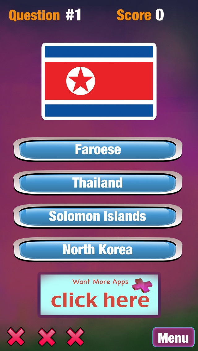 Atlas Fahnen Ratespiel - Freien Welt Quiz-SpielScreenshot von 2