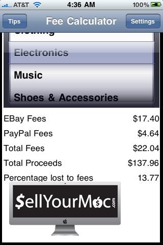eBay Fees Calculator and Free Tips screenshot-3