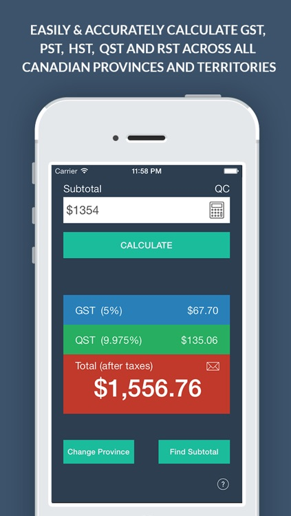 Canadian Sales Tax Calculator +