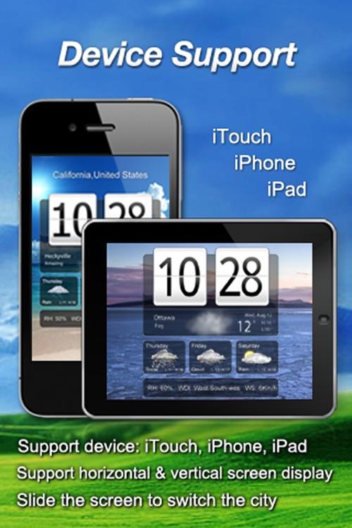 Awesome Live Weather Clock screenshot-3