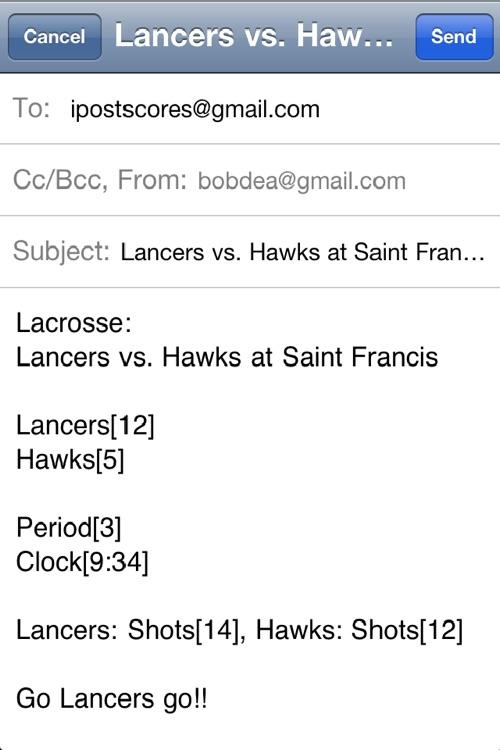 Lacrosse Scoreboard