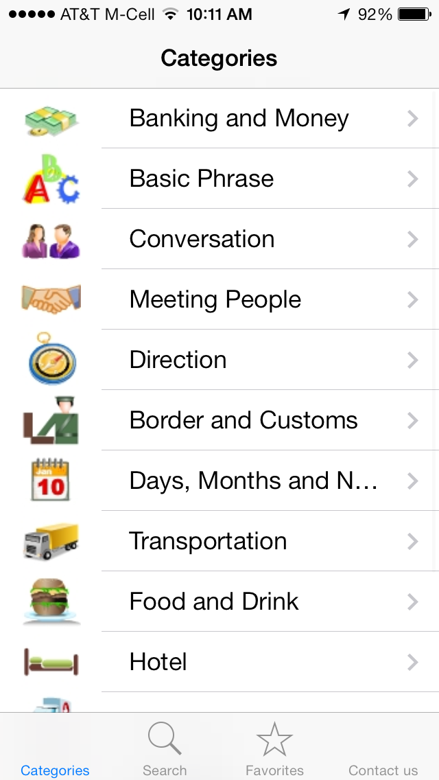 English to French Talking Phrasebook - Learn French Screenshots