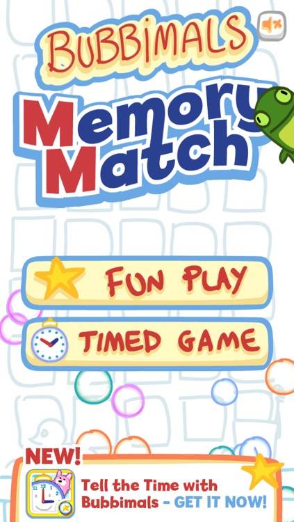 Memory Match with Bubbimals