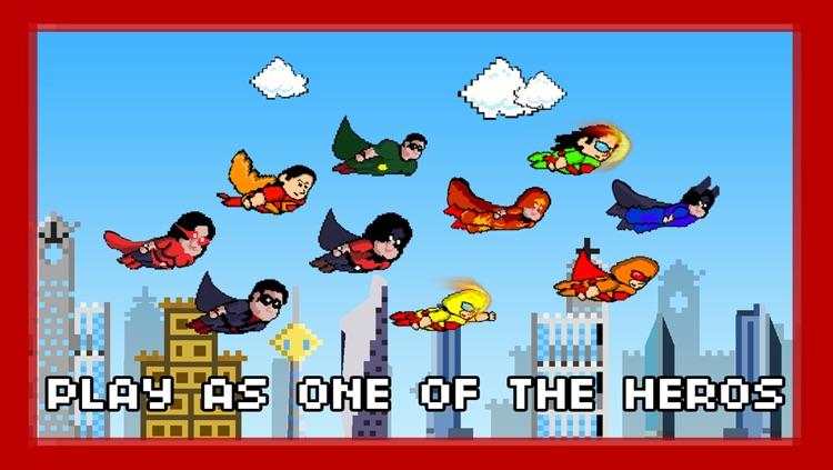 Pixel Heroes - The rocket man fighting super villains