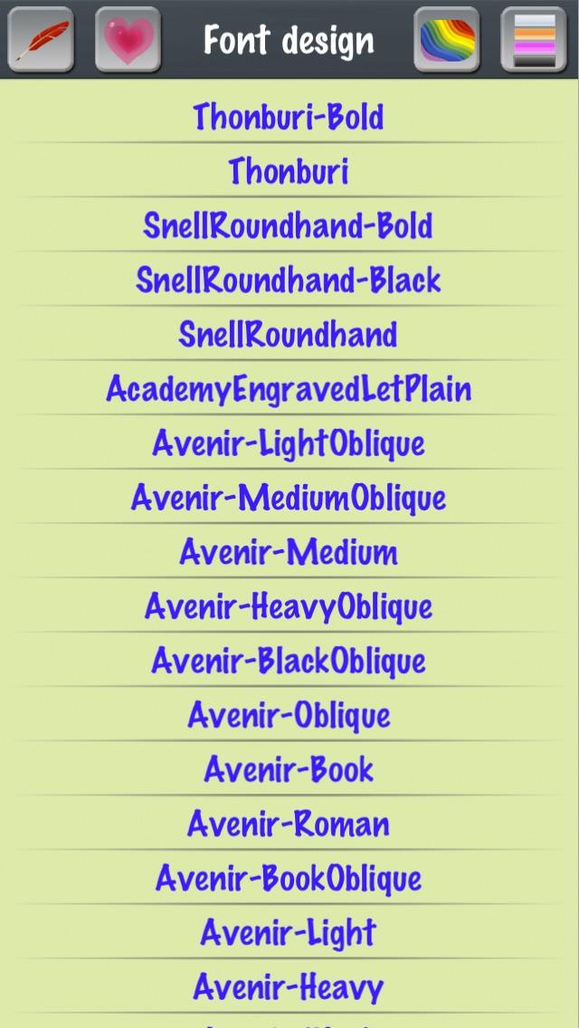 UI Button Design - Color Picker - Font List - Emoji Symbols