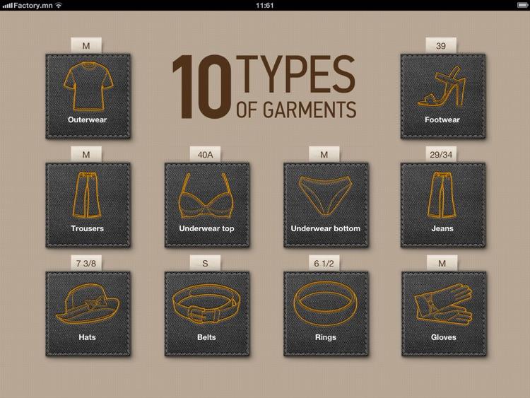 Sizer XL — Clothing Size Converter screenshot-3