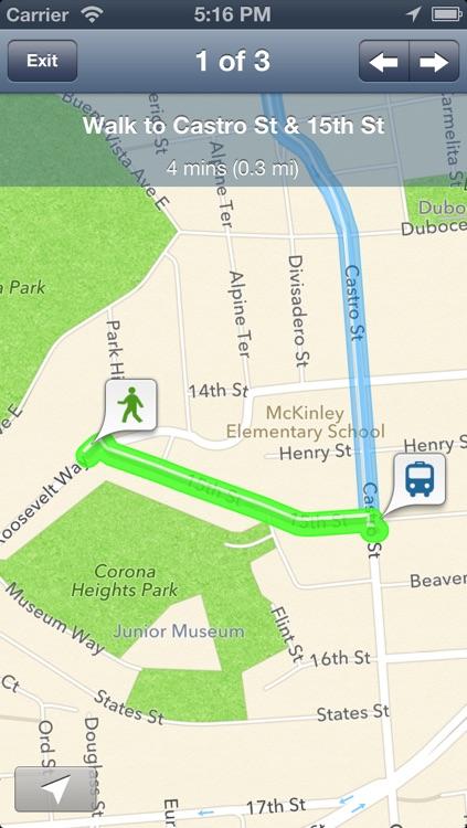 vTransit free - USA public transit search screenshot-3