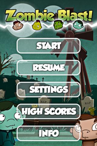 Zombie Blast Free Falling Bubble Shooter Puzzle Fun Game screenshot two