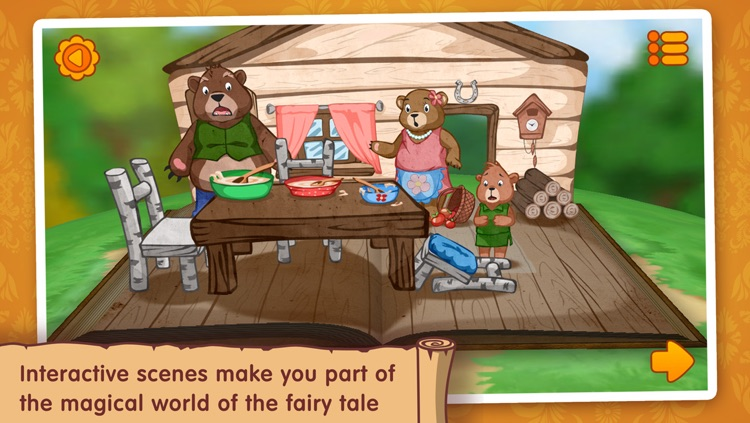 Goldilocks and the three bears: WonderBook. screenshot-4